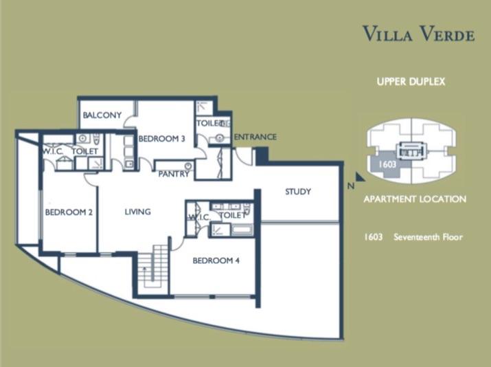 4 Bedroom Duplex (Upper Floor)