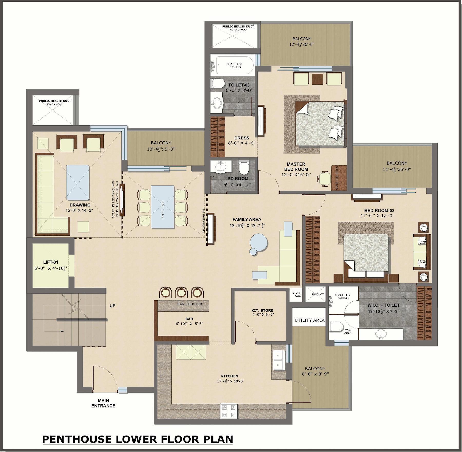 Penthouse, LowerFloor