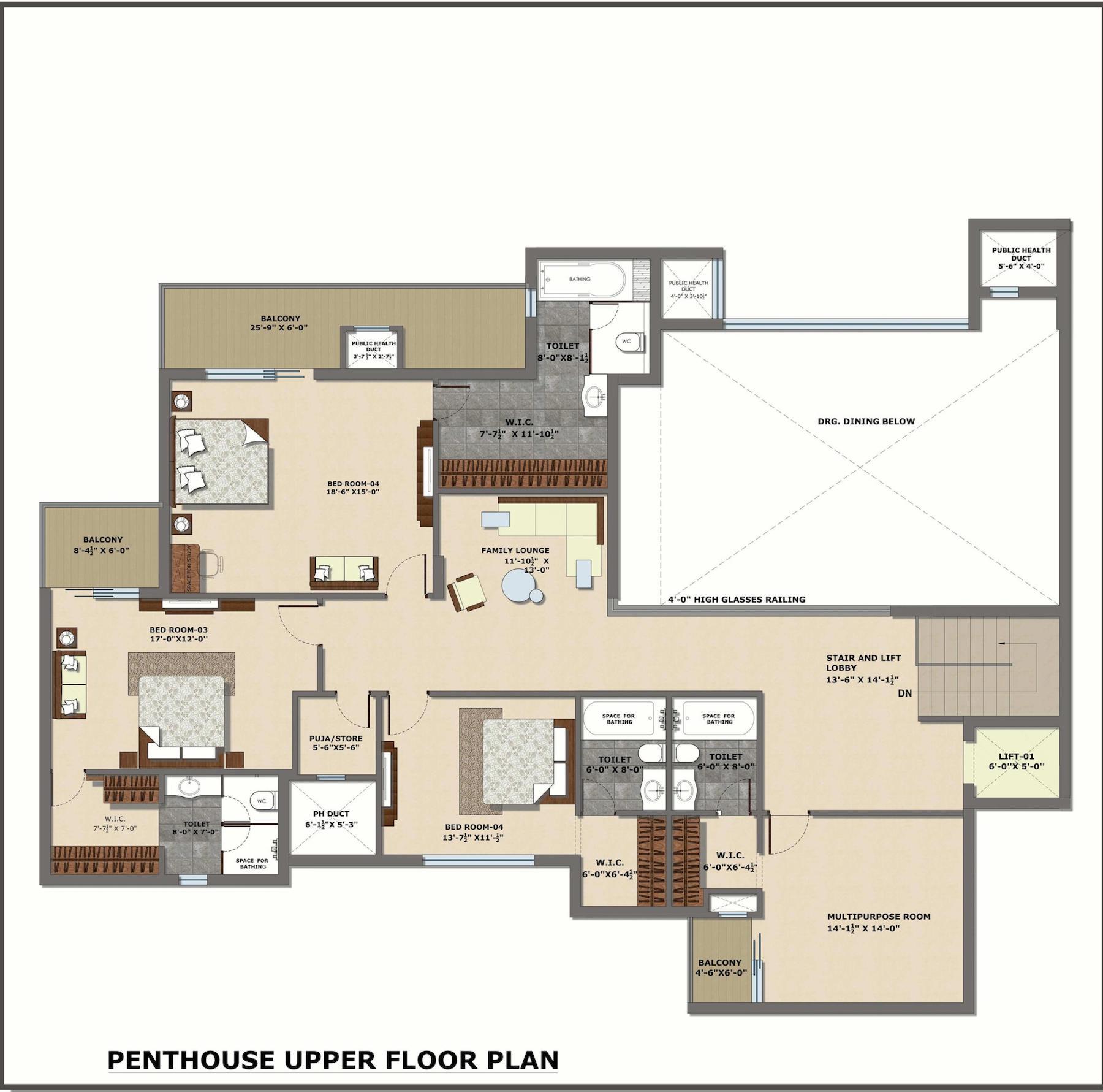 Penthouse, UpperFloor